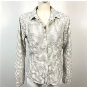 James Perse Shirt Blouse Top Womens Tomboy Plaid